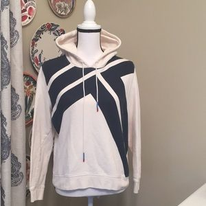 Tory Sport ivory and navy hoodie